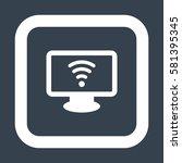 wifi icon  flat design style