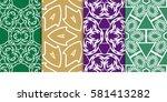 set of seamless decorative...   Shutterstock .eps vector #581413282