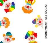 cartoon clowns. vector...   Shutterstock .eps vector #581427022