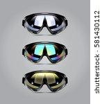 vector illustration of winter... | Shutterstock .eps vector #581430112