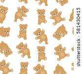 baby teddy bear seamless... | Shutterstock .eps vector #581430415