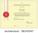 Dog Championship Certificate...