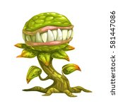 monster plant illustration.... | Shutterstock .eps vector #581447086