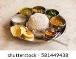 Vegetarian Nepali Thali  Dal...