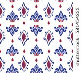 seamless pattern with fantasy... | Shutterstock .eps vector #581454322