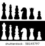 Illustrated Chess Pieces.