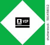 vip badge  icon vector design