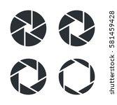 shutter aperture vector icons | Shutterstock .eps vector #581459428