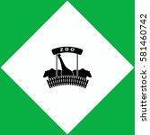zoo  icon vector design. | Shutterstock .eps vector #581460742