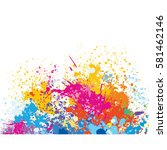 element for design from paint... | Shutterstock .eps vector #581462146