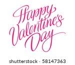 happy valentine's day vector...   Shutterstock .eps vector #58147363