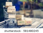 cartons of financial... | Shutterstock . vector #581480245