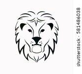lion  icon vector design.   Shutterstock .eps vector #581486038