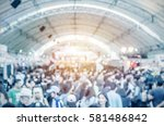 Small photo of abstract blurred event with people for background