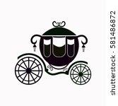 carriage  icon vector design. | Shutterstock .eps vector #581486872