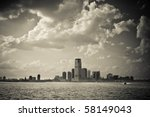 New Jersey City Skyline Under...