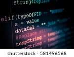 software developer programming... | Shutterstock . vector #581496568