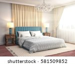 bedroom interior. 3d... | Shutterstock . vector #581509852