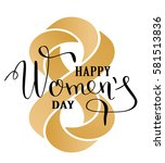 8 march gold glitter for women... | Shutterstock .eps vector #581513836