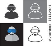 vr vector icons and virtual... | Shutterstock .eps vector #581514646