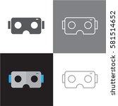 vr glasses icons | Shutterstock .eps vector #581514652