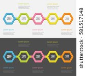 five step timeline infographic... | Shutterstock .eps vector #581517148