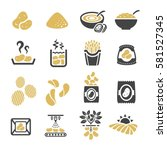potato icon | Shutterstock .eps vector #581527345