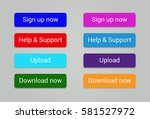 sign up now help    support... | Shutterstock .eps vector #581527972
