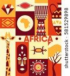 africa  vector flat...   Shutterstock .eps vector #581529898