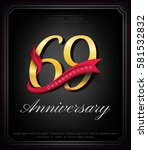 anniversary emblems 69... | Shutterstock .eps vector #581532832
