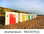 in woolacombe beach  devon ... | Shutterstock . vector #581537512