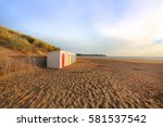 in woolacombe beach  devon ... | Shutterstock . vector #581537542