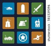 war icons set. set of 9 war... | Shutterstock .eps vector #581539396
