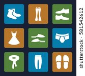 clothes icons set. set of 9...   Shutterstock .eps vector #581542612