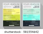 brochure template design.... | Shutterstock .eps vector #581554642