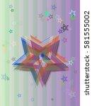 star icon pattern | Shutterstock .eps vector #581555002