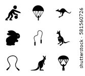 Jump Icons Set. Set Of 9 Jump...