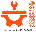 water service gear pictograph... | Shutterstock .eps vector #581563402