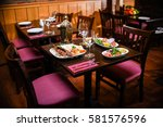 dish on the table   Shutterstock . vector #581576596