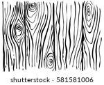 Sketch Wooden Background. Ink...