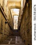 en empty street of the old city ... | Shutterstock . vector #581581876