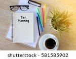 business concept   top view... | Shutterstock . vector #581585902