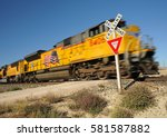 High Speed Union Pacific Train...
