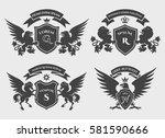 crests logo set. vector... | Shutterstock .eps vector #581590666