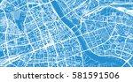 vector city map of warsaw ...   Shutterstock .eps vector #581591506