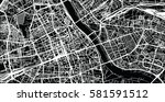 vector city map of warsaw ... | Shutterstock .eps vector #581591512