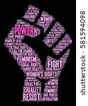 power women's rights word cloud ... | Shutterstock .eps vector #581594098