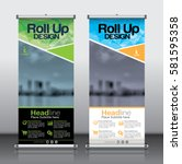 roll up brochure flyer banner... | Shutterstock .eps vector #581595358
