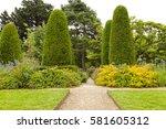stone pathway crossing summer...   Shutterstock . vector #581605312