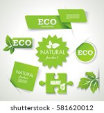 set of eco  green  natural... | Shutterstock .eps vector #581620012